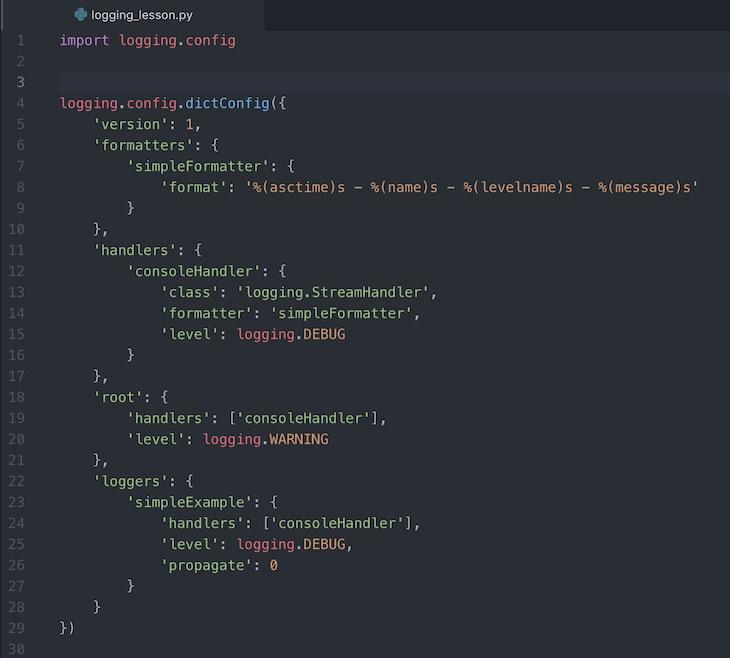 Python】ロギングのコンフィグで環境設定- fileConfig